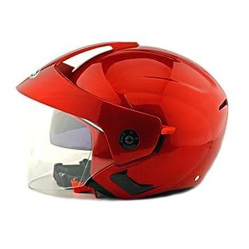 Kangzy Casco de seguridad para motocicleta, moto, scooter, 205 rojo.: Amazon.es: Deportes y aire libre