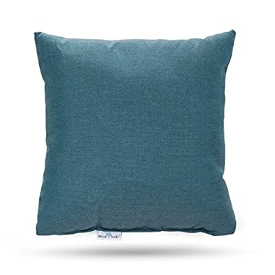 Blue Oak Outdoor Cast Lagoon Sunbrella Toss Pillows 2 pack - Sold as a 2 pack Made of 100% sunbrella solution dyed acrylic fabric 5 Year fabric Warranty - patio, outdoor-throw-pillows, outdoor-decor - 51%2BTEztJY1L. SS400  -