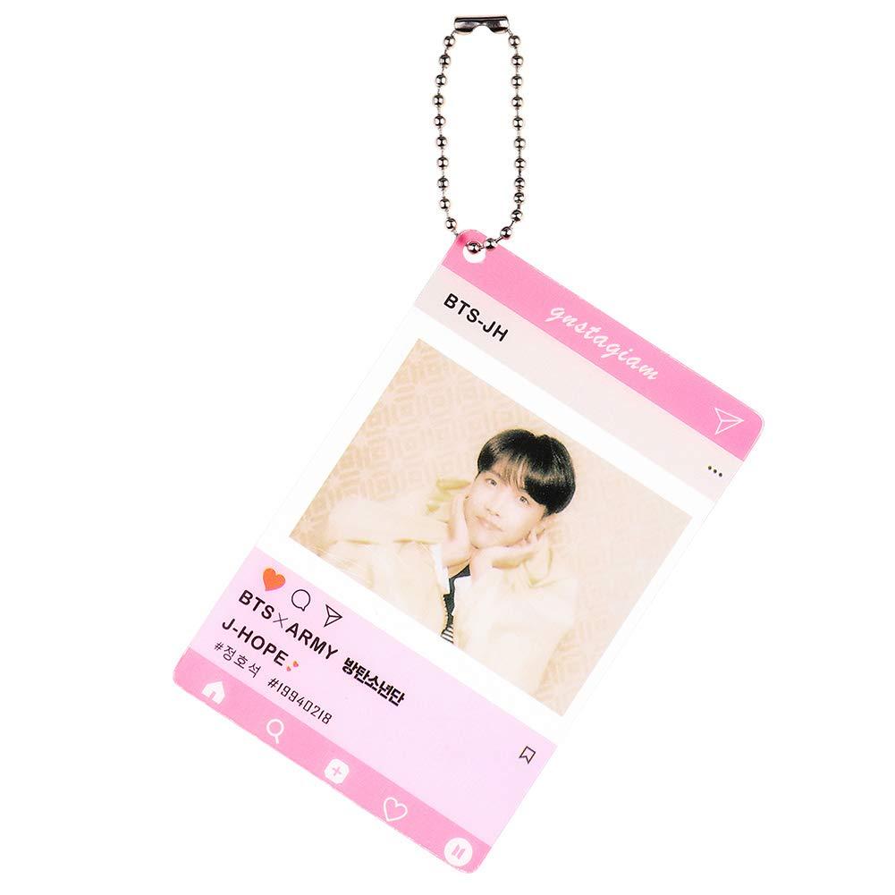 7 STK ALTcompluser Kpop BTS Instagram Card Anh/änger Foto Karte Dekoration f/ür Schl/üsselanh/änger// Schl/üsselbund
