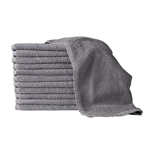 "PREMIUM GRADE Grey Salon Towels 100% Cotton 16""x27"". Hand, S"
