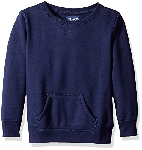 The Children's Place Girls' Little Gym Uniform Pullover Sweatshirt, Tidal, X-Small/4