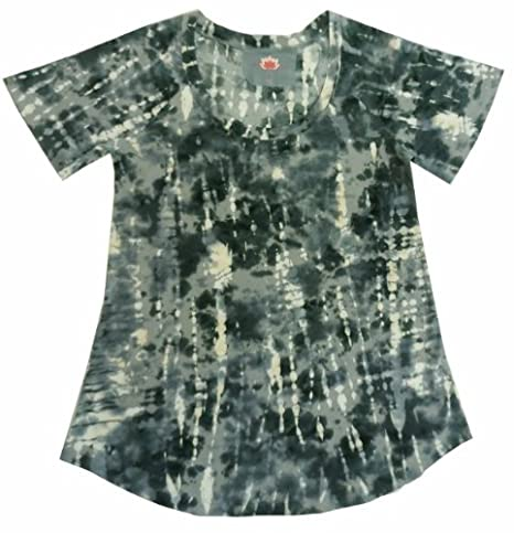 1e2a2f3cca09 Pink Lotus Ladies Size Small Swoop Neck Tie Dye Colored T-Shirt (Black &