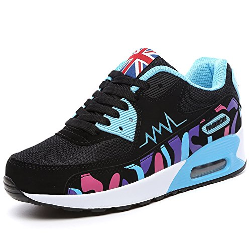 No.66 Town Womens Air Casual Walking Running Shoes Fashion Sneaker #956 Blue mXMZuFpf9