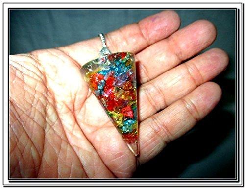 Jet Pendulum Healing Crystal Piezoelectric