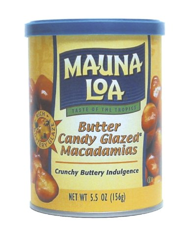 Macadamia Nut Toffee (Mauna Loa Macadamias, Butter Candy Glazed, 5.5-Ounce Containers (Pack of 4))