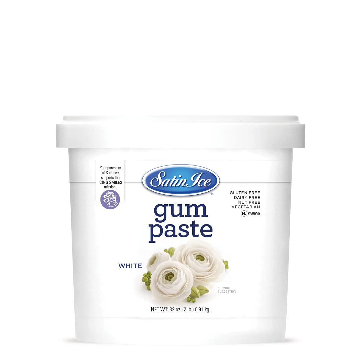 Satin Ice White Gum Paste, Vanilla, 2 Pound