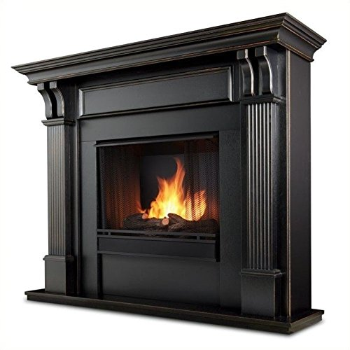 Real Flame Ashley Indoor Gel Fireplace - Black Wash (Gel Fireplace Mantel compare prices)