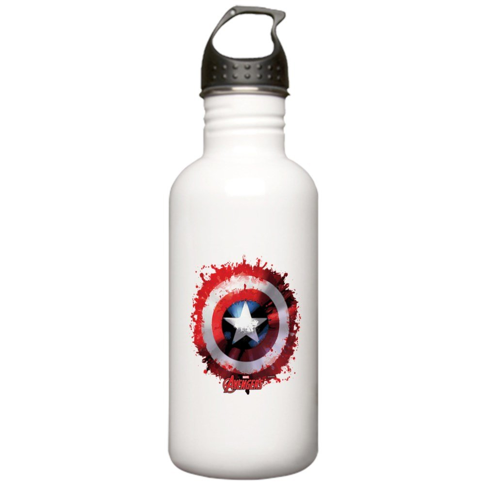 CafePress - Cap Shield Spattered Stainless Water Bottle 1 - Stainless Steel Water Bottle, 1.0L Sports Bottle