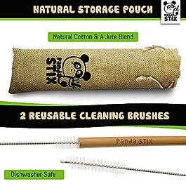 Panda STIX | Eco-friendly Bamboo Drinking Straws