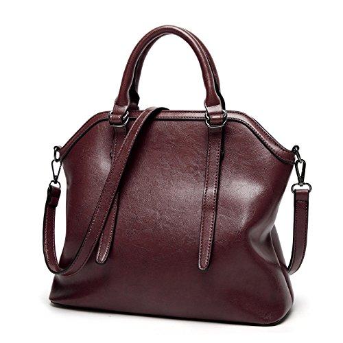 Bolsos mujer bolso de hombro paquete diagonal de Europa y los Estados Unidos de moda Bolsos Bolso salvajes, marrón coffee color