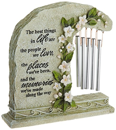 Carson Home Accents Peaceful Reflections Garden Chime, 8.5-Inch High, Memories (Religious Chimes)