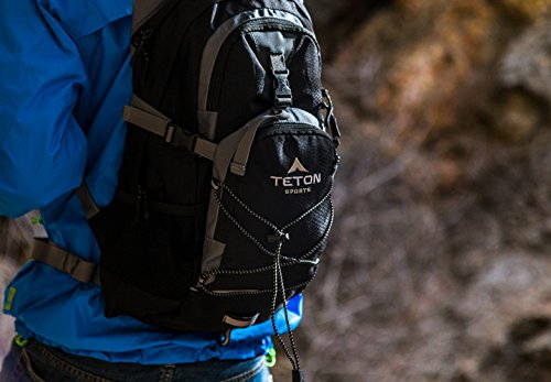 TETON Sports Oasis 1100 Hydration Pack | Free 2-Liter Hydration Bladder | Backpack design great for Hiking, Running, Cycling, and Climbing 12 SATISFY YOUR THIRST FOR ADVENTURE: Lightweight and comfortable; This hydration pack is a terrific companion for all your day-long or overnight hydration needs; Size 1100 Cubic Inches (18 L) FREE HYDRATION BLADDER: BPA free, 2-liter hydration bladder; Durable, kink-free sip tube and innovative push-lock cushioned bite valve; Large 2-inch (5cm) opening for ice and easy cleaning CUSTOMIZABLE COMFORT: Backpack for men, women, and youth; Adjusts to fit all frames comfortably; Notched foam stabilizer and mesh covering means you can wear this pack for hours