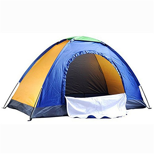 Afdgsjyu Portable Beach Tent Single Person Camping Tent Blue Patchwork Backpacking Tent Need to Be Assembled Tent for Outdoor Sports Camping Tents