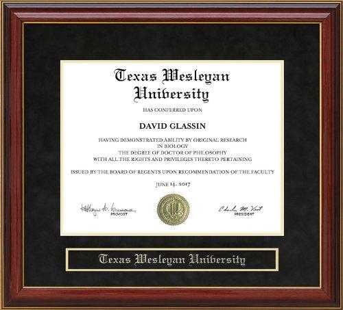 - Texas Wesleyan University Diploma Frame - Mahogany