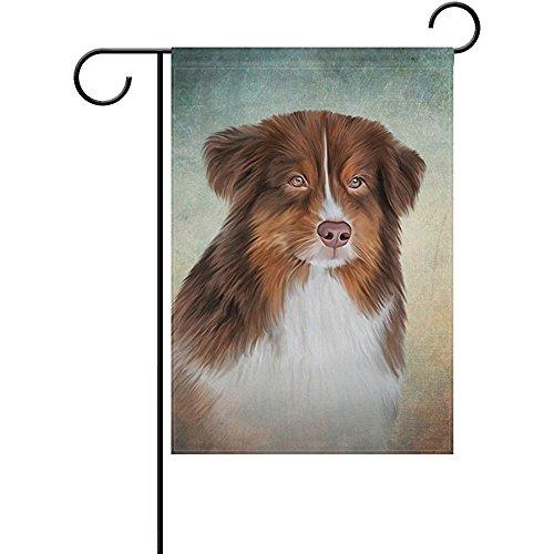Starphilad Australian Shepherd Dog Decorative Double Sided Garden Flag 12 x 18 inch Australian Decorative Painting