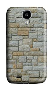 Samsung S4 Case,VUTTOO Cover With Photo: Texture Stone For Samsung Galaxy S4 I9500 - PC Hard Case