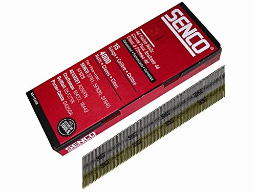 Chisel Smooth Brad Nails Galvanised 15G x 50mm Pack 4,000 by Senco (Image #1)