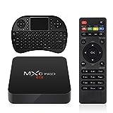 MXG TV Box + Wireless Keyboard, 4K 2GB 16GB 2.4GHz Android 6.0 Quad Core 3D Bluetooth Smart Media Box