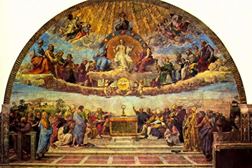 Raphael Disputation of the Holy Sacrament Fine Art Mural Giant Poster 54x36 inch by Poster Foundry