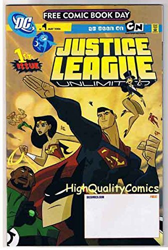 JUSTICE LEAGUE UNLIMITED #1, NM, Wonder Woman, FCBD, 2006, more FCBD in store