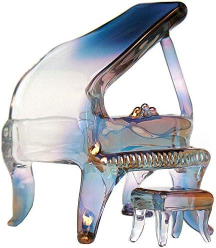 Prochaska Gallery Hand Blown Glass Piano Figurine