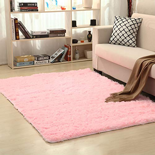 THEE Ultra Soft Shaggy Fluffy Area Rug Home Decor Living Room Bedroom Dormitory Carpet Floor ()