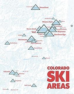 Amazon Com Colorado Ski Resorts Map 18x24 Poster Beige Posters