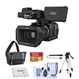 Panasonic HC-X1000 1080p 4K Ultra High Definition Camcorder - Bundle with Camcorder Case, 32GB Claas 10 SDHC Card, Full Size Tripod, Cleaning Kit, Memory Wallet, Cap Leash