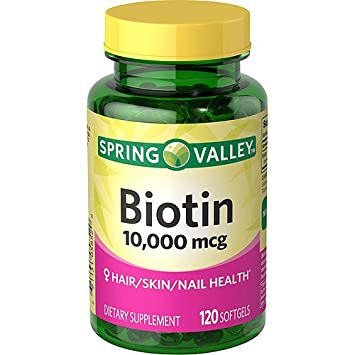 Spring Valley Biotin Dietary Supplement, 10,000 mg, 120 Softgels