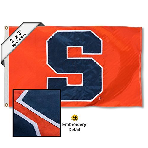 College Flags and Banners Co. Syracuse Orange 2x3 Foot Embroidered Flag