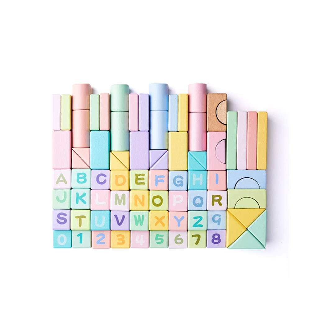 LIUFS-TOY Wooden Toys Spell Inserted Blocks Children Early Education Intellectual Gift 80 Capsules Puzzle (Size : L)