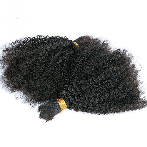 Braiding Hair Weaving - Hesperis Grade 8A Brazilian Human Hair Afro Kinky Curly Bulk Hair Extensions For Braiding 100% Unprocessed Human Hair Bulk Weaving No Weft 100g Per Bundle (26inch)