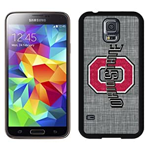 NEW Personalized Customized Galaxy S5 Case with Ncaa Big Ten Conference Football Ohio State Buckeyes 37 Logo Cell Phone Hardshell Cover Case for Galaxy S5 S 5 SV S V i9600 Black