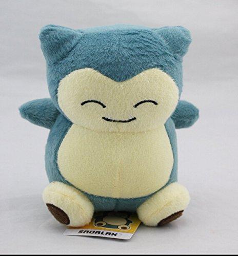 [15 CM, #143 Snorlax Pokemon Rare Soft Plush Toy Doll] (Pokemon X And Y Ash Costume)