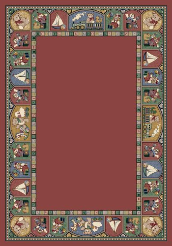 Milliken Signature Collection Toy Parade Rectangle Area Rug, 5'4
