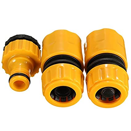 "3pcs 1//2/"" 3//4/""/"" 1 Kit Hose Pipe Fitting Set Quick Garden Water Connector Adaptor"