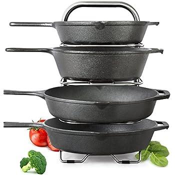 Amazon.com: 10+ Pans BetterThingsHome Expandable Pan Organizer Rack ...