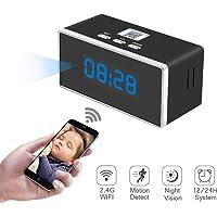Camara Espia Oculta WiFi Reloj Despertador 1080P TANGMI Mini Videocámara Inalámbrica Detección de Movimiento con Visión Nocturna Seguridad Cámara 140°Ángulo de Visión