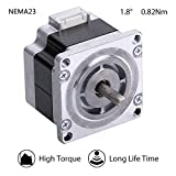 Moons' NEMA 23 High Torque Stepper Motor 0.82Nm(116oz-in) 1A 2Phase 1.8 Degree Stepper Motor 3D Printer 39mm(1.54in.)(Stepper Motor Cable01891 Include, Model ML23HS0P4100)
