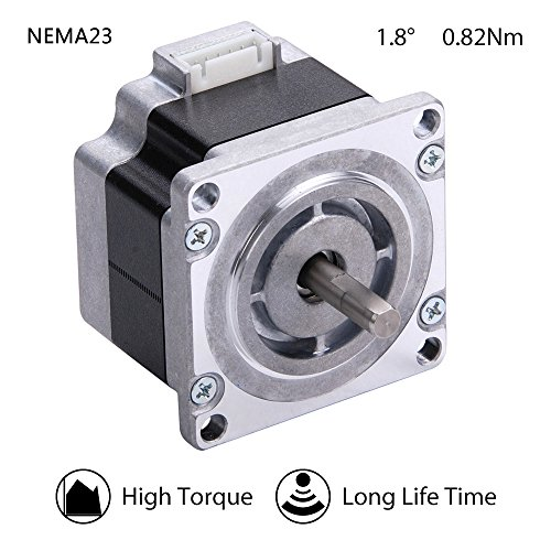 Moons' NEMA 23 High Torque Stepper Motor 0.82Nm(116oz-in) 1A 2Phase 1.8 Degree Stepper Motor 3D Printer 39mm(1.54in.)(Stepper Motor Cable01891 Include, Model ML23HS0P4100) by MOONS'