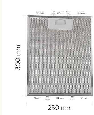Filtro campana extractora 300x250 (1 filtro): Amazon.es: Hogar