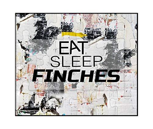 Makoroni - EAT Sleep Finches Animal - Jigsaw Puzzle, 30 pcs.