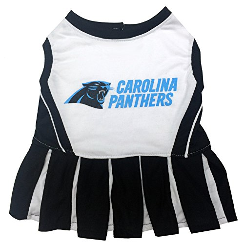 Pets First NFL Carolina Panthers Cheerleader Dress, Medium