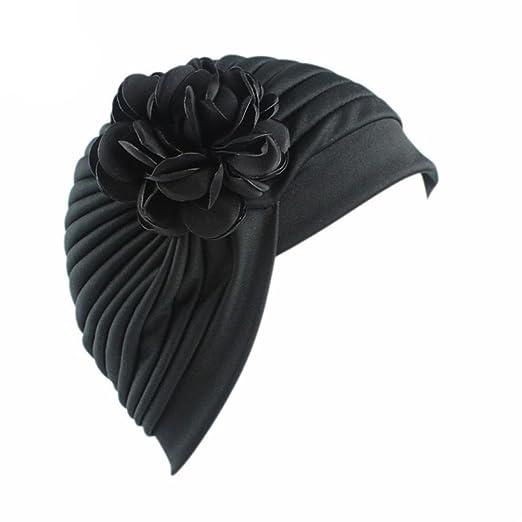 bcd3aa32a8f Elevin(TM)Women Summer Flower Indian Stretch Turban Hat Chemo Cap Hair  Scarf Headwrap