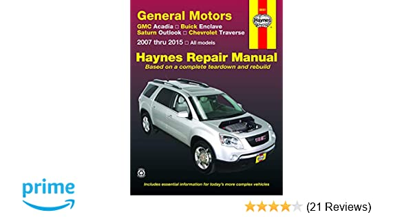 2009 GMC Acadia Haynes Online Repair Manual-Select Access