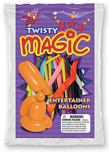 Twisty The Clown Girl Costume (Funsational Twisty Magical Latex Balloons, 20 Count)