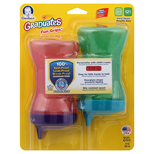 Gerber Graduates Fun Grips Hard Spout Sippy Cup in Assorted Colors, 10-Ounce, 2 cups by Gerber Graduates (Image #7)