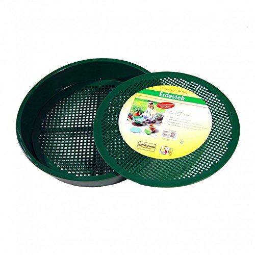 Xclou Garden Erdsieb aus Kunststoff mit zwei auswechselbaren Einsätzen, Grün, Ø ca. 38 cm