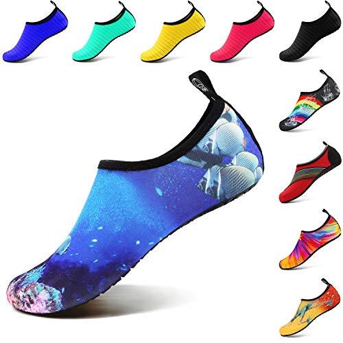 Pour Vifuur Chaussures Femmes Hommes Aqua Sport À De Nus Poisson Corail Nautique Enfants Slip on Chaussettes Rapide Yoga Pieds Séchage 66wdrxfq
