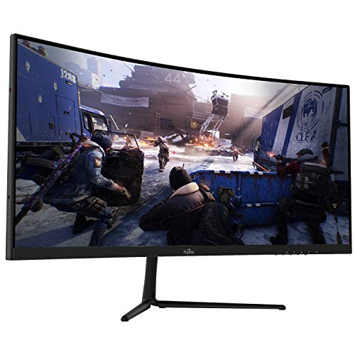 "29"" Curved 100Hz LED Gaming Monitor Full HD 1080P Ultra Wide HDMI DP Ports with Speakers, VESA Wall Mount Ready 2020 (DP Cable Included)"